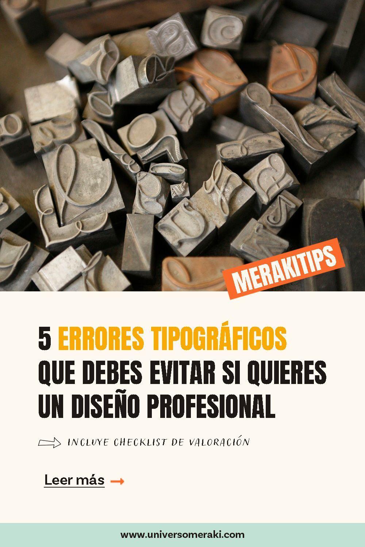 5 errores tipográficos que debes evitar si quieres un diseño profesional