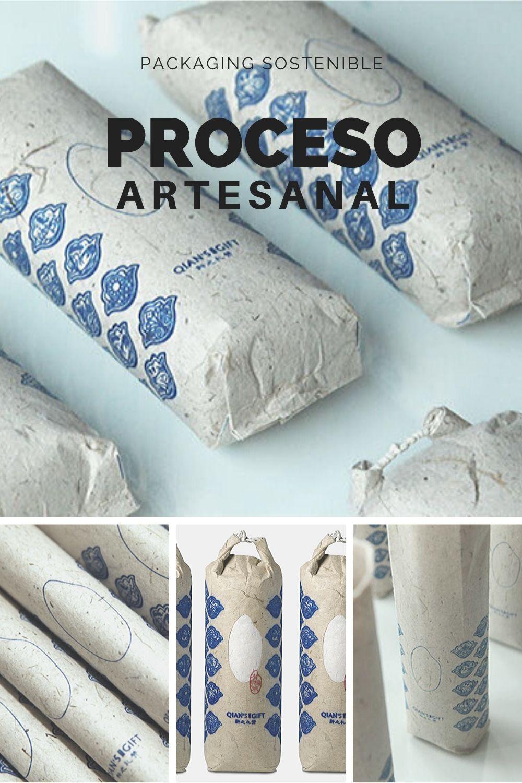 Packaging sostenible hecho a mano con papel artesanal