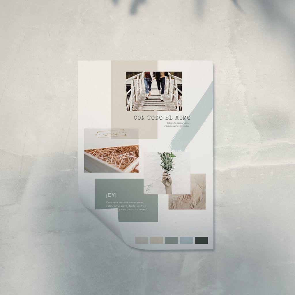 Tablero de inspiración para diseño web Be Ethereal