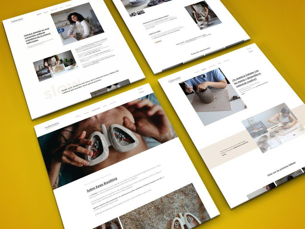 Diseño web cerámica.