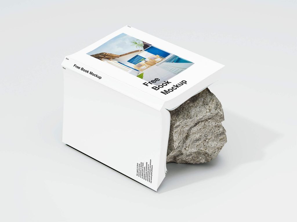 Mockup de libro estilo moderno para descargar gratis